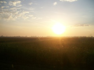 Sunrise on the plains of Hungary