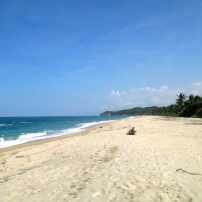 Beach at my lodge site, Tayrona